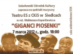 "Picture 0 for ""Giganci piosenki""  07 marca godz.18:00"